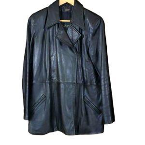 Black leather Daniel jacket size xsmall